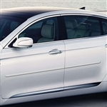 Hyundai Genesis Sedan Painted Body Side Moldings, 4pc  2009 - 2013