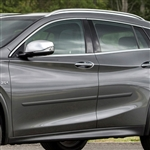 Infiniti QX30 Painted Body Side Moldings, 2017, 2018