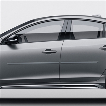 Volvo S60 Painted Body Side Moldings, 2010, 2011, 2012, 2013, 2014, 2015, 2016