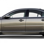 Volvo S80 Painted Body Side Moldings, 2007, 2008, 2009, 2010, 2011, 2012, 2013, 2014, 2015, 2016