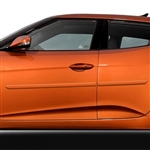 Hyundai Veloster Painted Body Side Moldings, 2012, 2013, 2014, 2015, 2016, 2017