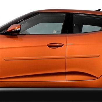 Hyundai Veloster Painted Body Side Moldings, 2012, 2013, 2014, 2015, 2016