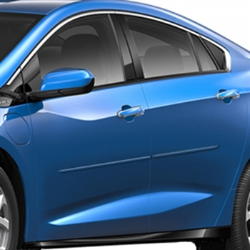 Chevrolet Volt Painted Body Side Moldings, 2011, 2012, 2013, 2014, 2015, 2016, 2017, 2018