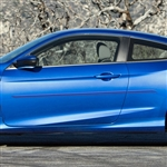 Honda Civic Coupe Painted Body Side Moldings (beveled design), 2016, 2017, 2018