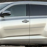 Toyota Highlander Painted Body Side Moldings (beveled design), 2014, 2015, 2016, 2017, 2018