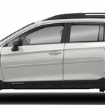 Subaru Outback Painted Body Side Moldings (beveled design), 2010, 2011, 2012, 2013, 2014, 2015, 2016, 2017, 2018