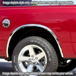 GMC Sierra Chrome Wheel Well Fender Trim, 4pc  2007 - 2013