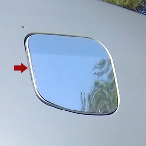 Toyota Corolla Chrome Fuel Door Trim, 2014, 2015, 2016