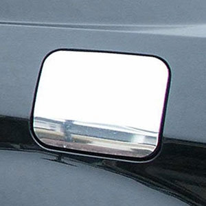 Dodge Charger Chrome Fuel Door Overlay (w/ Thumb Notch), 2008-2010