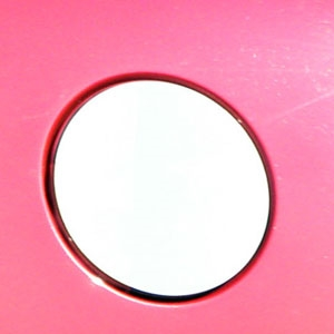 Cadillac SRX Chrome Gas Cap Trim, 2010, 2011, 2012, 2013, 2014, 2015, 2016