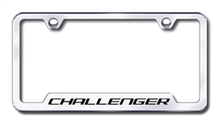 Dodge Challenger Premium Chrome License Plate Frame