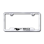 Ford Mustang 50 Year Premium Chrome License Plate Frame