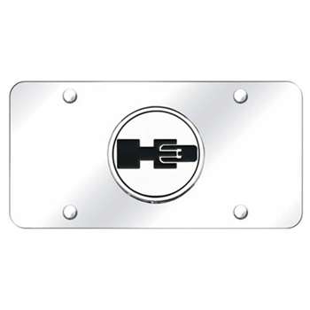 Chrome License Plate - H3 Logo