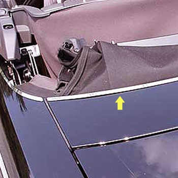 Ford Thunderbird Chrome Rear Deck Trim, 3pc  2002 - 2005