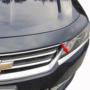 Chevrolet Impala Chrome Headlight Trim, 2014, 2015, 2016, 2017