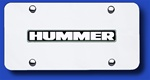 Hummer Chrome License Plate