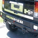 Hummer H2 Stainless Steel Rear Bumper Insert Package, 2003, 2004, 2005, 2006, 2007, 2008, 2009