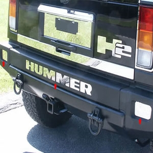 Hummer H2 Stainless Steel Rear Bumper Insert Letters