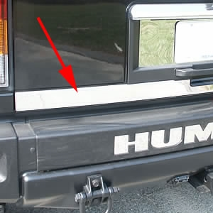 Hummer H2 Chrome Rear Tailgate Trim