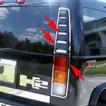 Hummer H2 Stainless Steel Taillight Accent Trim, 2003, 2004, 2005, 2006, 2007, 2008, 2009