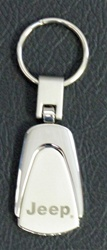Jeep Stainless Steel Teardrop Keychain