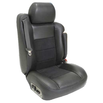 Dodge Ram QUAD CAB Katzkin Leather Seat Upholstery, 2013, 2014, 2015, 2016, 2017 (3 passenger split with 2 pc console or 2 passenger base buckets, with front seat SRS airbags, solid rear)