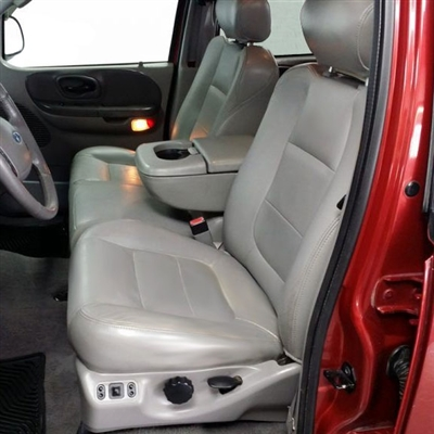 Ford F150 Crew Cab XLT / Lariat Katzkin Leather Seat Upholstery, 2002.5 (LB 3 passenger front seat, 60/40 back seat)