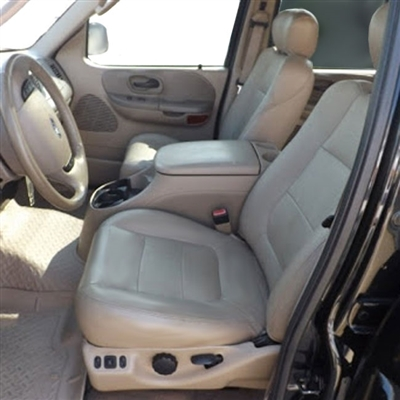 Ford F150 Crew Cab XLT / Lariat Katzkin Leather Seat Upholstery, 2002.5 (LB 2 passenger front seat, 60/40 back seat)