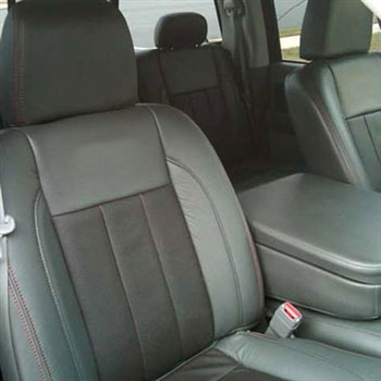 Dodge Ram Regular Cab Katzkin Leather Seat Upholstery, 2006, 2007, 2008 (3 passenger front seat with plastic bezel, 2 piece console)