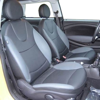 Mini Cooper BASE / CLUBMAN Hatchback Katzkin Leather Seat Upholstery, 2007, 2008, 2009, 2010, 2011, 2012