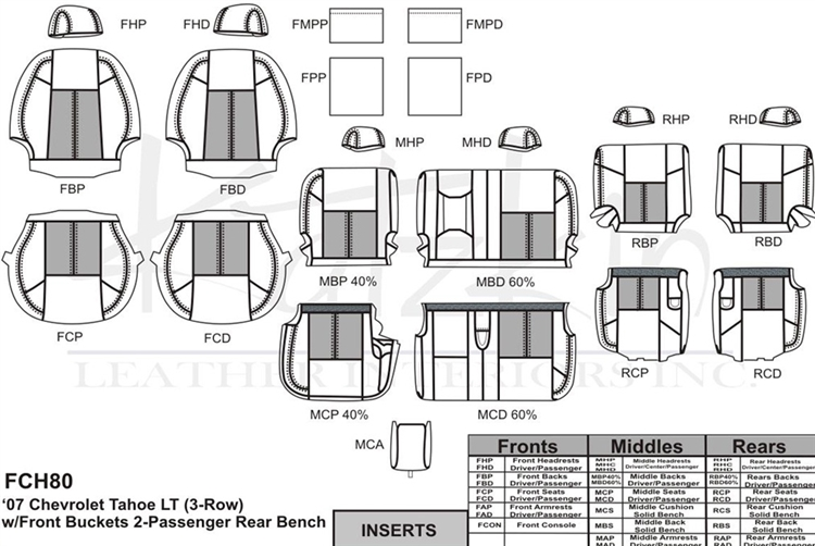 Chevrolet Tahoe Lt Katzkin Leather Seat Upholstery 2007 2008 2009. 2007 2009 Chevrolet Tahoe. Seat. Tahoe Third Row Seat Diagrams At Scoala.co