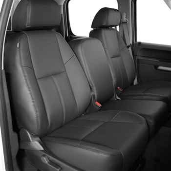 GMC Sierra Extended Cab Katzkin Leather Seat Upholstery, 2008, 2009 (3 passenger front seat, without under seat storage, solid rear seat)
