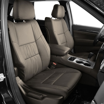 Jeep Grand Cherokee Katzkin Leather Seat Upholstery, 2011, 2012, 2013, 2014, 2015, 2016, 2017, 2018 (gathered design)