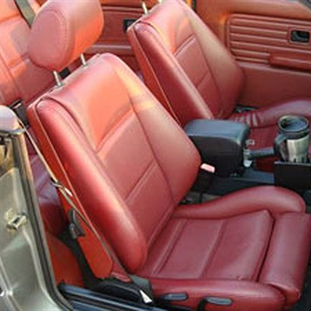 BMW 325I CONVERTIBLE Katzkin Leather Seat Upholstery, 1985, 1986, 1987, 1988, 1989, 1990, 1991