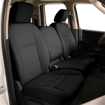 Dodge Ram 1500 Quad Cab Katzkin Leather Seat Upholstery, 2012 (3 passenger split or 2 passenger base buckets, with front seat SRS airbags, split rear)