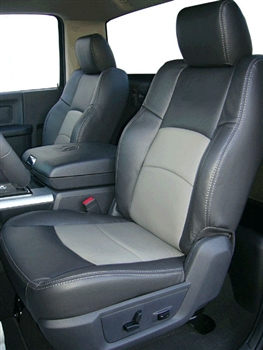 Dodge Ram 1500 QUAD CAB Katzkin Leather Seat Upholstery, 2017 (2 passenger sport buckets, with front seat SRS airbags, split rear)