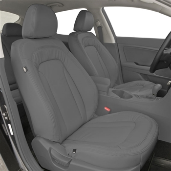 KIA OPTIMA BASE HYBRID Katzkin Leather Seat Upholstery, 2012, 2013, 2014, 2015 (with arch insert listing, see line art to verify pattern)