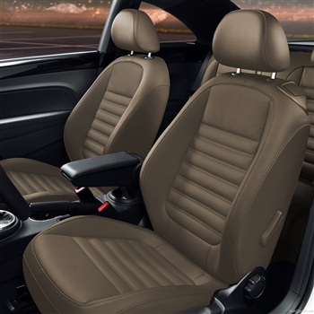 VOLKSWAGEN BEETLE Turbo Coupe Katzkin Leather Seat Upholstery, 2012, 2013, 2014, 2015