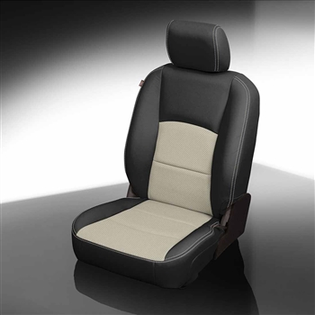 Dodge Ram CREW CAB 1500 / 2500 / 3500 Katzkin Leather Seat Upholstery, 2017 (3 passenger with 2 piece console or 2 passenger base buckets, with front seat SRS airbags, solid rear)