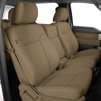 Ford F150 Crew Cab XLT Katzkin Leather Seat Upholstery, 2013 (3 passenger front seat)