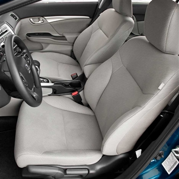 Honda Civic Sedan LX / HF / Hybrid Katzkin Leather Seat Upholstery, 2014, 2015 (flat design)