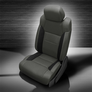 Toyota Tundra Double Cab Katzkin Leather Seat Upholstery, 2014, 2015, 2016, 2017, 2018 (3 passenger front seat, manual driver)