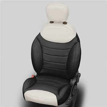 Fiat 500 L POP / EASY SEDAN Katzkin Leather Seat Upholstery, 2015, 2016, 2017 (without rear center armrest)