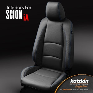 Scion iA Sedan Katzkin Leather Seat Upholstery, 2016, 2017