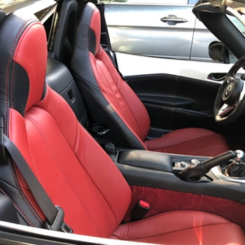 Fiat 124 Spider Katzkin Leather Seat Upholstery (with headrest speakers), 2017