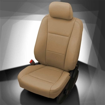 Ford F250 / F350 / F450 / F550 XLT CREW CAB Katzkin Leather Seat Upholstery, 2017 (3 passenger front seat)