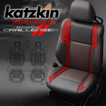 Dodge Challenger Katzkin Leather Seat Upholstery Kit