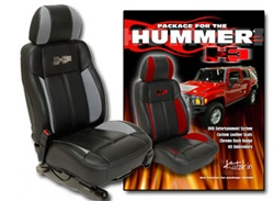 Hummer H3 Katzkin Leather Seat Upholstery Kit