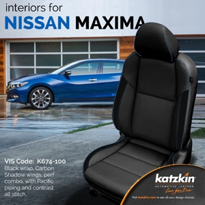 Nissan Maxima Katzkin Leather Seat Upholstery Covers