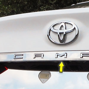 Toyota Camry Chrome License Bar Trim, 2018, 2019